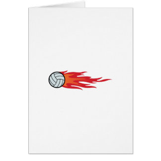 Volleyball Flames Card