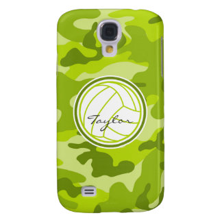 Volleyball green camo camouflage galaxy s4 case
