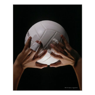 Volleyball Hands Poster