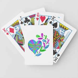 Volleyball Happy Heart Bicycle Playing Cards
