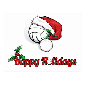 Volleyball Happy Holidays Postcard