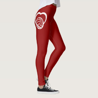 Volleyball Heart Leggings