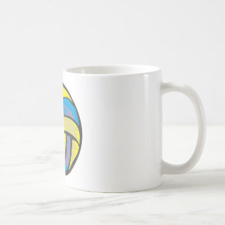 Volleyball in Hand-drawn Style Coffee Mug