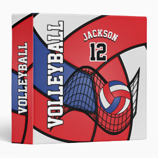 Volleyball in Red, White and Blue Vinyl Binder