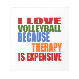 Volleyball Is My Therapy Notepad