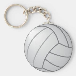 Volleyball Basic Round Button Keychain