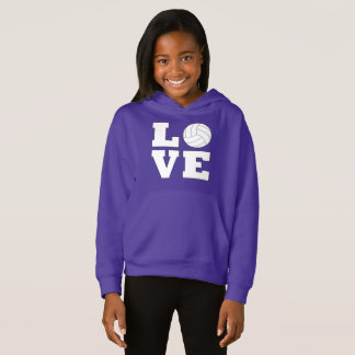 Volleyball Love Girl's Sweathshirt
