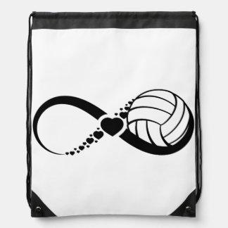 Volleyball Love Infinity Drawstring Bag