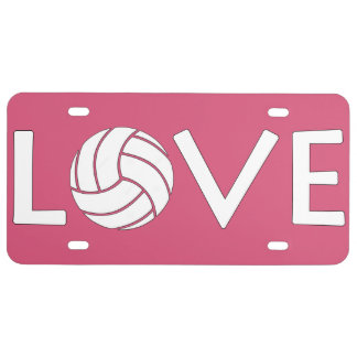 Volleyball Love License Plate