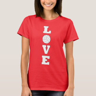 Volleyball LOVE Vertical Graphic T-shirt