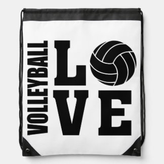 Volleyball Love, Volleyball Drawstring Bag
