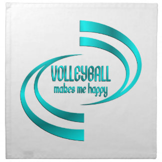 Volleyball Makes Me Happy Napkin