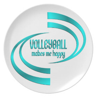 Volleyball Makes Me Happy Plate