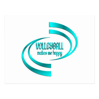 Volleyball Makes Me Happy Postcard