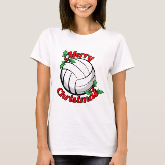 Volleyball Merry Christmas T-Shirt