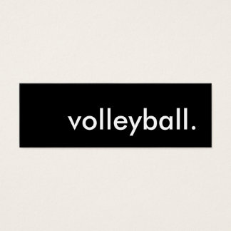 volleyball. mini business card