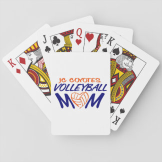 Volleyball Mom heart Playing Cards