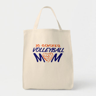 Volleyball Mom heart Tote Bag