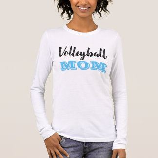 Volleyball Mom Long Sleeve T-Shirt - Carolina Blue