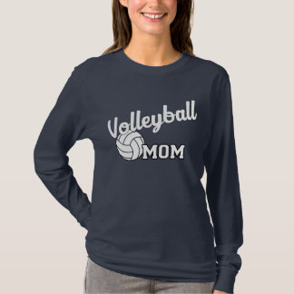 Volleyball mom long sleeved shirt - navy blue
