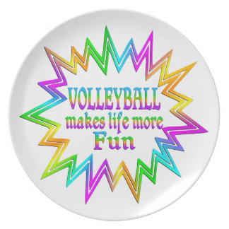 Volleyball More Fun Plate