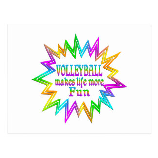 Volleyball More Fun Postcard