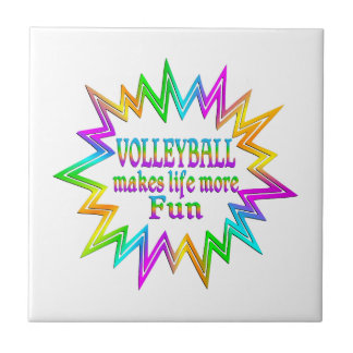 Volleyball More Fun Tile