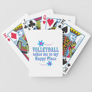 Volleyball My Happy Place Bicycle Playing Cards