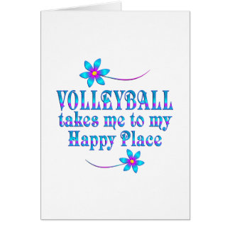 Volleyball My Happy Place Card