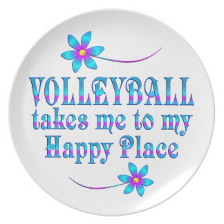 Volleyball My Happy Place Plate