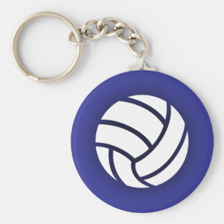 Volleyball Navy Blue Keychain