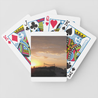 Volleyball Net Sunset Beach Bicycle Playing Cards