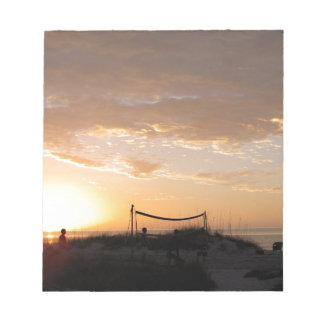 Volleyball Net Sunset Beach Notepad