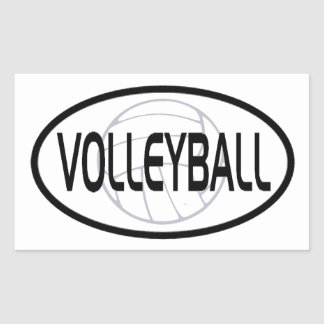 Volleyball Oval Design Sticker