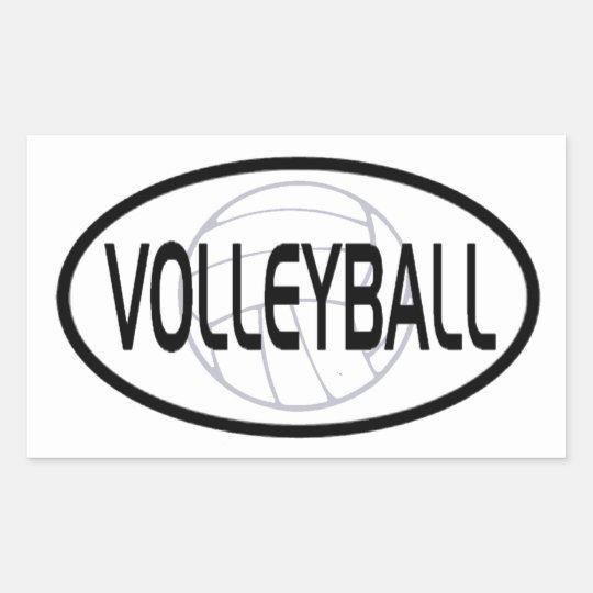 Volleyball Oval Design Sticker