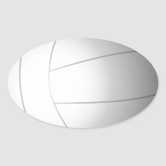 Volleyball Oval Sticker