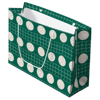Volleyball pattern party large gift bag