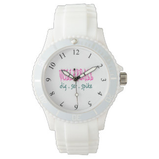 Volleyball Pink Watch