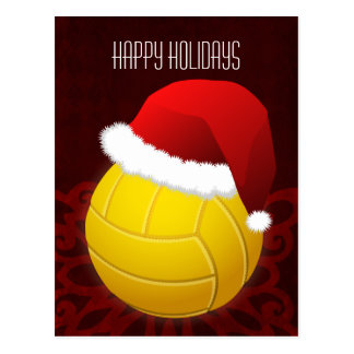volleyball player Holiday greeting Postcard