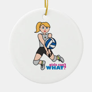 Volleyball Player - Light/Blonde Ceramic Ornament