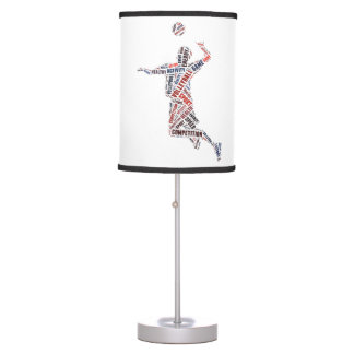 Volleyball player table lamp