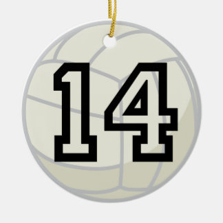 Volleyball Player Uniform Number 14 Ornament