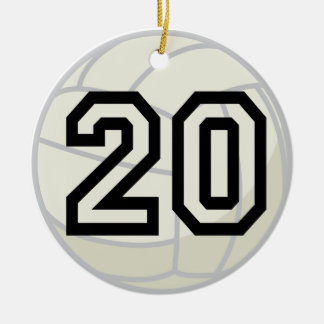 Volleyball Player Uniform Number 20 Ornament