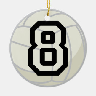 Volleyball Player Uniform Number 8 Ornament