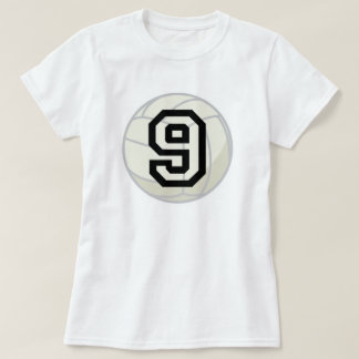 Volleyball Player Uniform Number 9 Gift T-Shirt