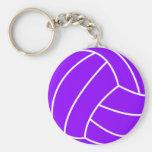 Volleyball pourpre violet porte-clés