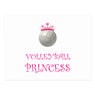 Volleyball Princess Postcard