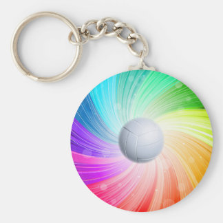 Volleyball rainbow keychain