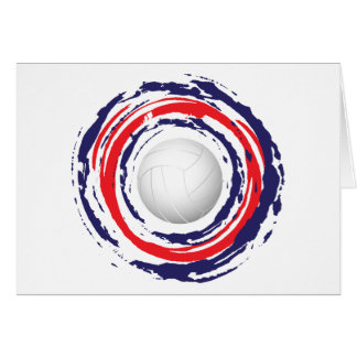Volleyball Red Blue And White 1 Card