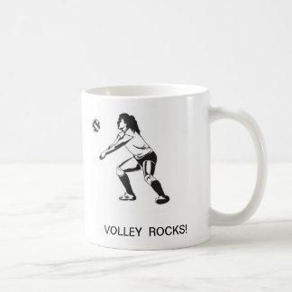 VOLLEYBALL ROCKS! Coffee Mug